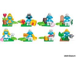 Фигурки для конструктора Смурфики Mega Bloks