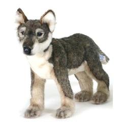 Мягкая игрушка Щенок волка стоящий, 30 см