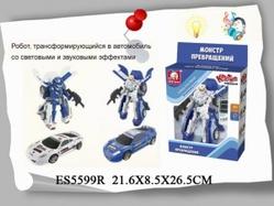 Игрушки:Роботы, трансформеры:Трансформеры, бакуганы:Робот ES5599R со светом и звуком в коробке 22*8,5*26,5см  S+S TOYS