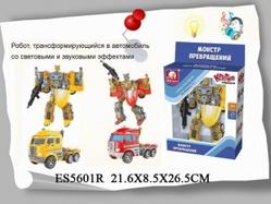 Игрушки:Роботы, трансформеры:Трансформеры, бакуганы:Робот  ES5601R со светом и звуком в коробке 22*8,5*26,5см  S+S TOYS