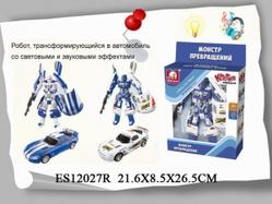 Игрушки:Роботы, трансформеры:Трансформеры, бакуганы:Трансформер ES12027R со светом и звуком в коробке 22*8,5*26,5см  S+S TOYS
