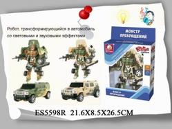 Игрушки:Роботы, трансформеры:Трансформеры, бакуганы:Трансформер ES5598R со светом и звуком в коробке 22*8,5*26,5см  S+S TOYS