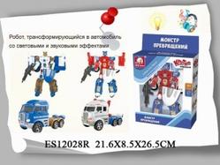 Игрушки:Роботы, трансформеры:Трансформеры, бакуганы:Трансформер ES12028R со светом и звуком в коробке 22*8,5*26,5см  S+S TOYS