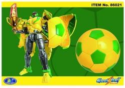 Игрушки:Роботы, трансформеры:Трансформеры, бакуганы:Трансформер 86021 Футбольный мяч, в коробке Happy Well