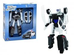 Игрушки:Роботы, трансформеры:Трансформеры, бакуганы:Трансформер 82050 Xbot-Полицейская машина, в коробке Happy Well