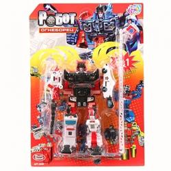 Игрушки:Роботы, трансформеры:Трансформеры, бакуганы:Робот 8008 Огнеборец в блистере 41*28см JOY TOY