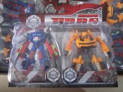 Игрушки:Роботы, трансформеры:Трансформеры, бакуганы:Робот PY002B 2 шт, в блистере 14*13см