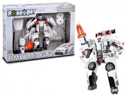 Игрушки:Роботы, трансформеры:Трансформеры, бакуганы:Трансформер 52120 BMW MW-GT2 Roadbot, 1:32, со светом, в коробке Happy Well