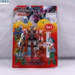 Игрушки:Роботы, трансформеры:Трансформеры, бакуганы:Трансформер 8017 Комбат на листе 26*18см